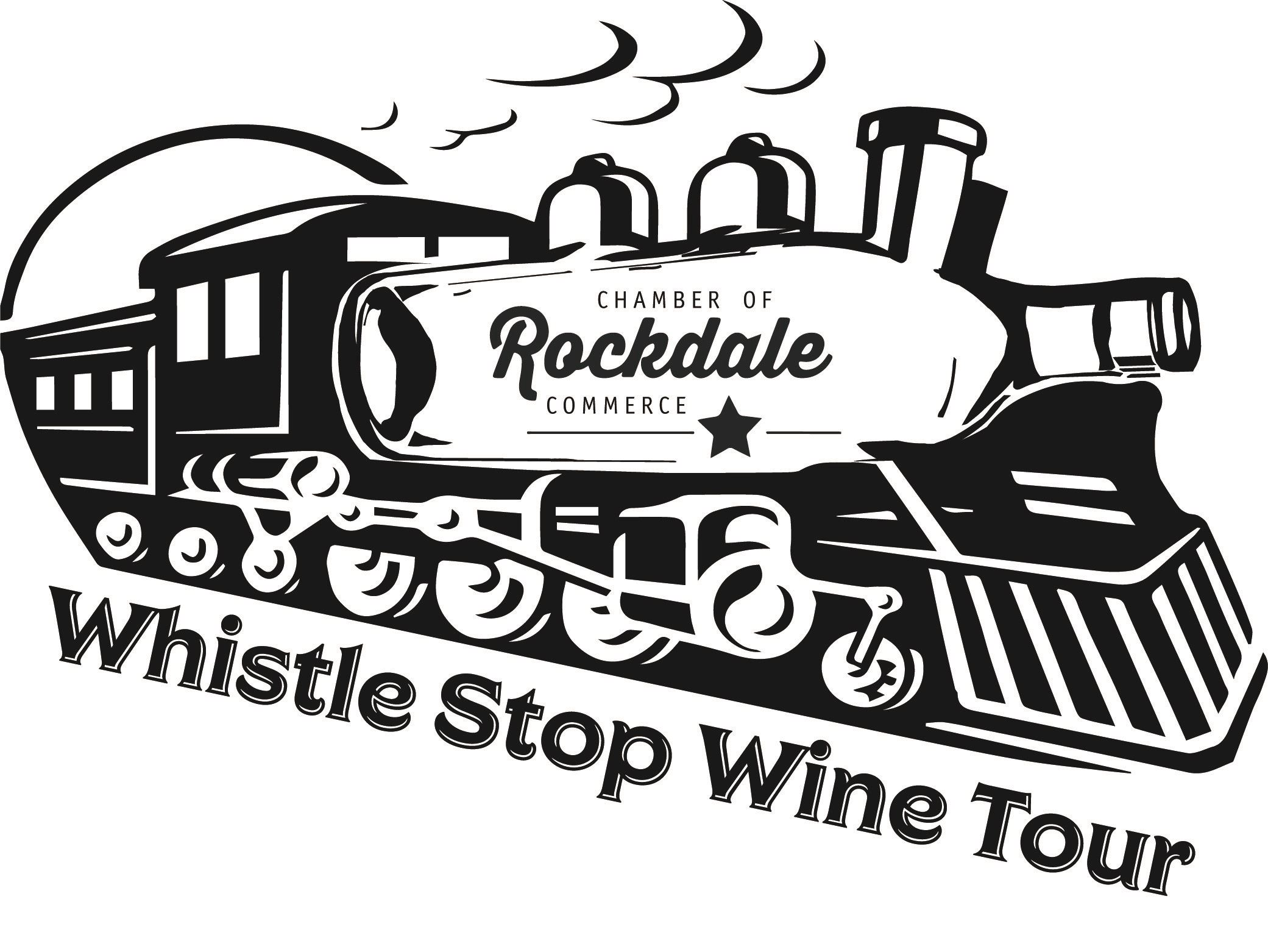 Rockdale Chamber of Commerce Whistle Stop Wine Tour Logo