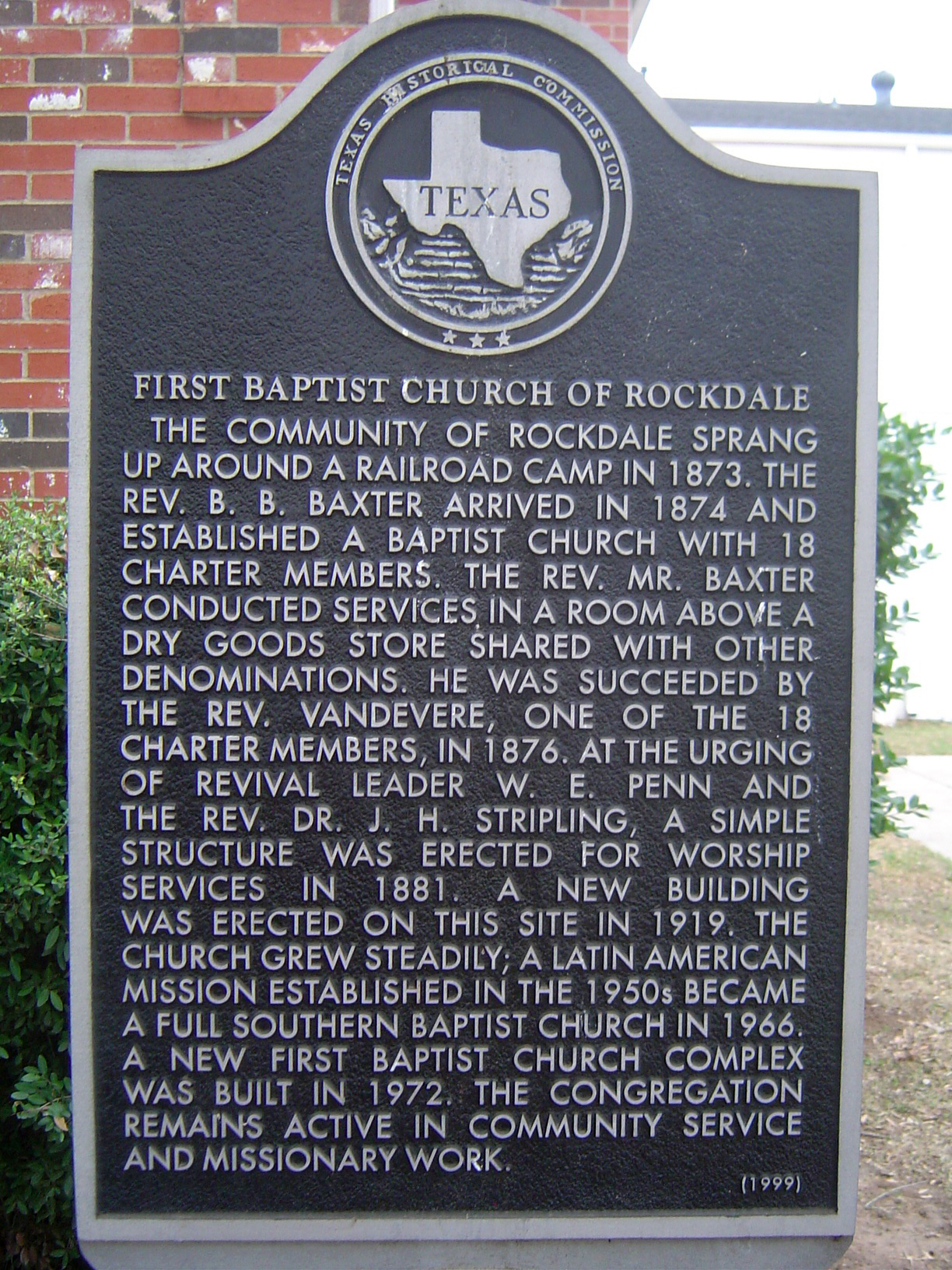 First Baptist Church Historical Marker
