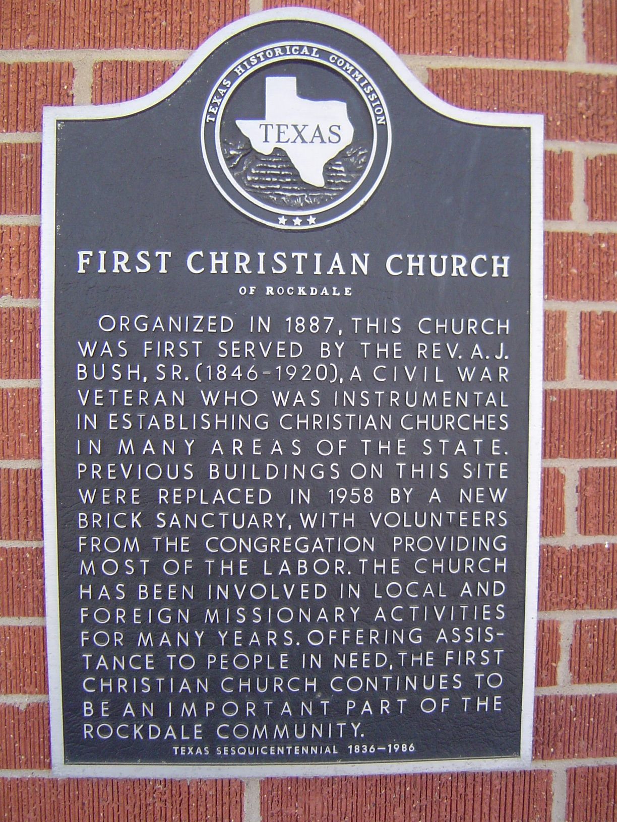 First Christian Church Historical Marker